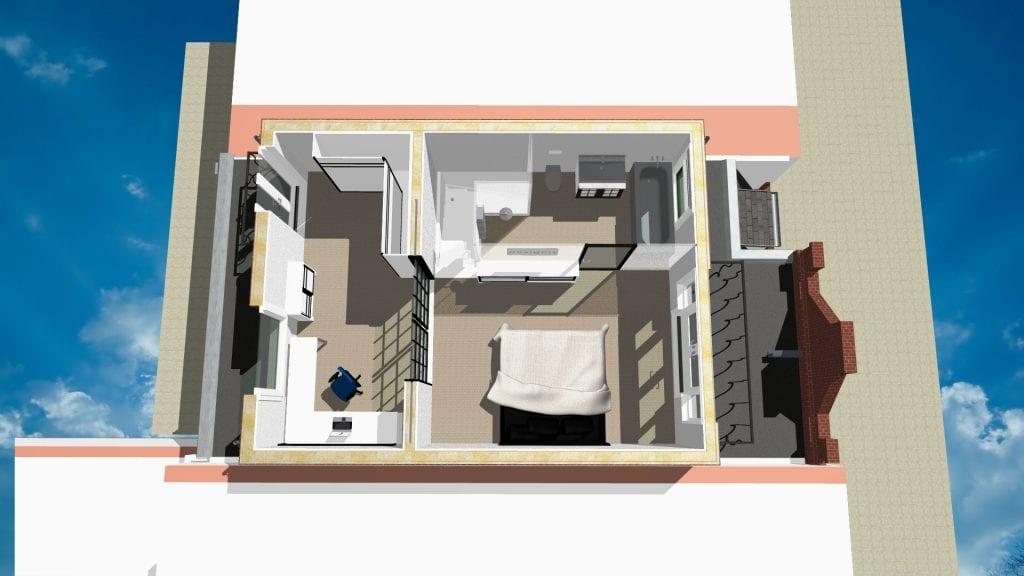 Opbouw Amsterdam Zuid ontwerp 3 D (Top View)