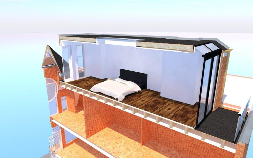 Opbouw Amsterdam Zuid Ontwerp 6 E (doorsnede)