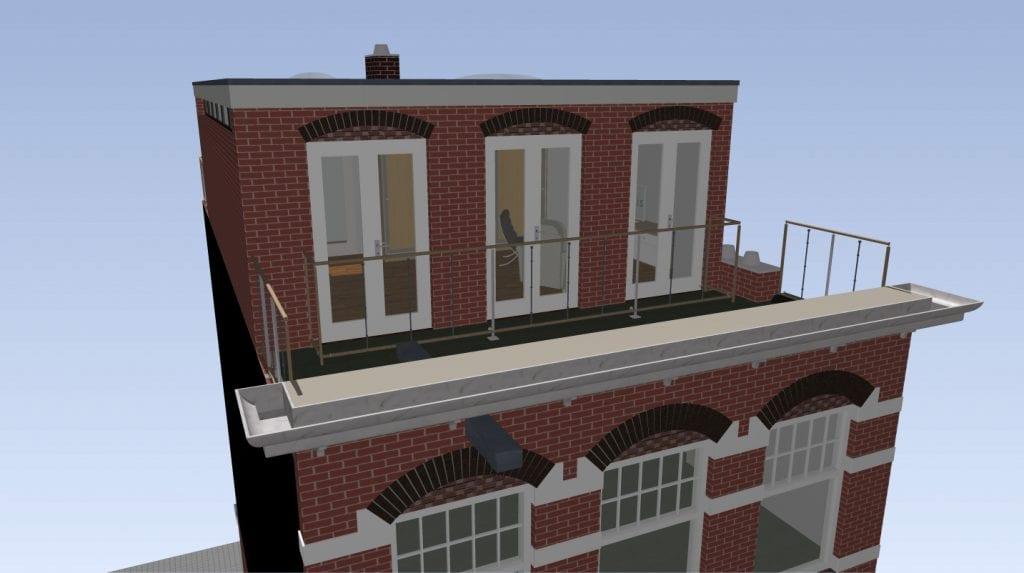 Opbouw Amsterdam Zuid Ontwerp 4 V (aanzicht)