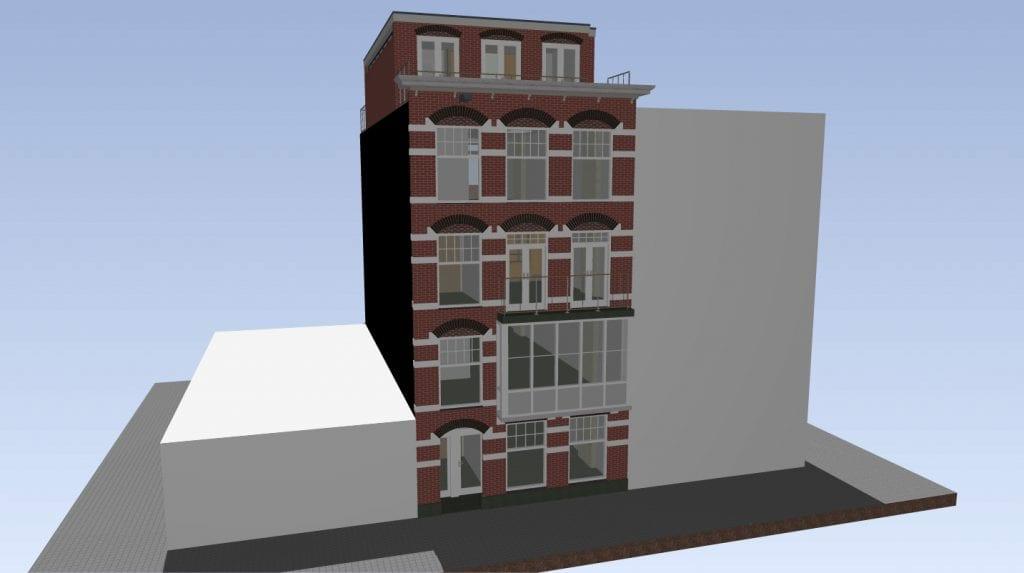 Opbouw Amsterdam Zuid Ontwerp 4 V - aanzicht