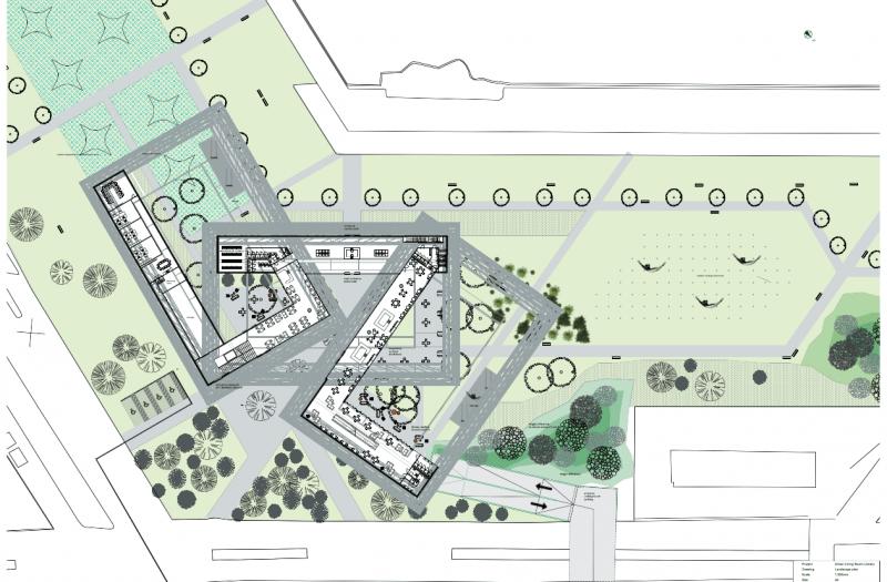03 The Urban Livingroom - Library Songdo, Landscape design