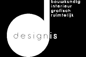 Logo Designis bouwkundig wit